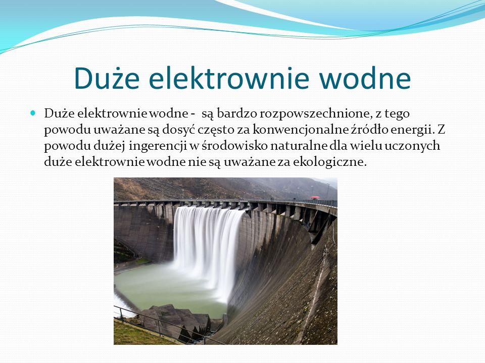 Duże elektrownie wodne