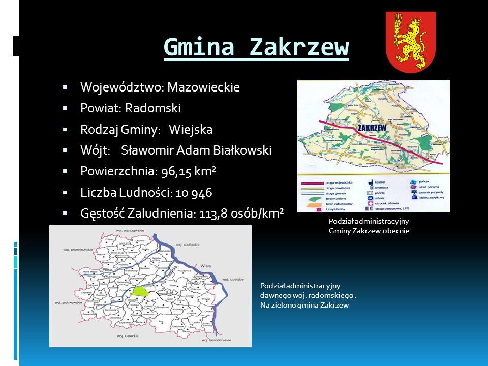 Gmina Zakrzew Województwo: Mazowieckie Powiat: Radomski