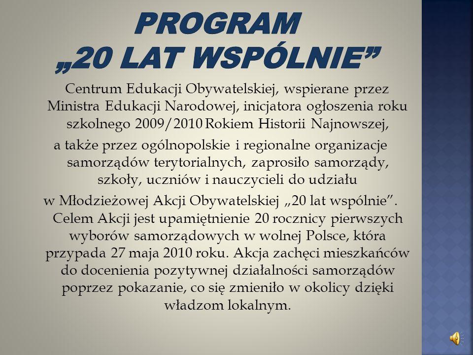 """Program """"20 lat wspólnie"""