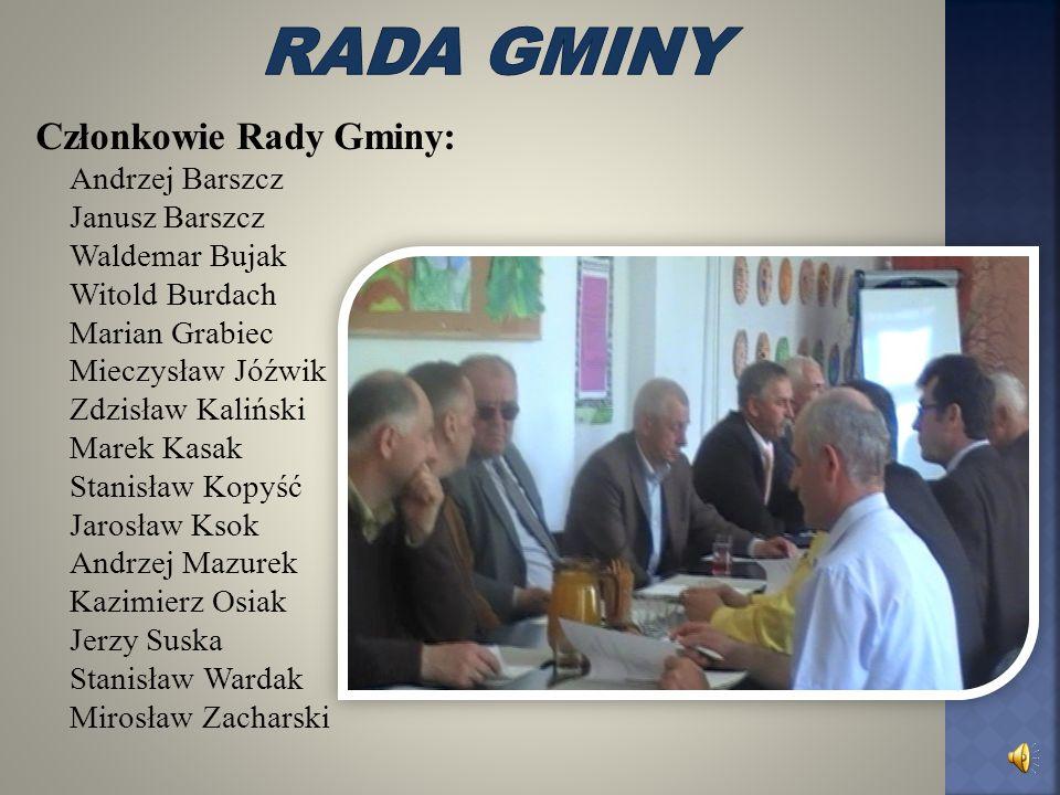 Rada gminy Członkowie Rady Gminy: Andrzej Barszcz Janusz Barszcz