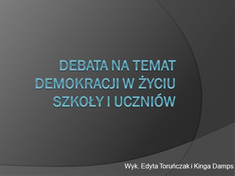 Debata na temat demokracji w życiu szkoły i uczniów