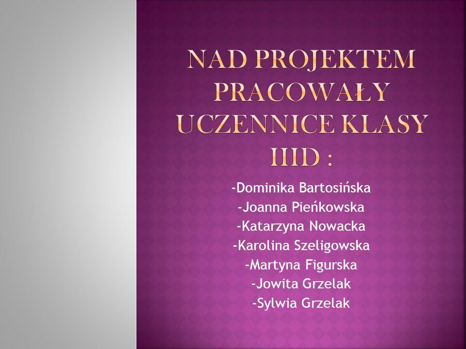Nad projektem pracowały uczennice klasy IIId :