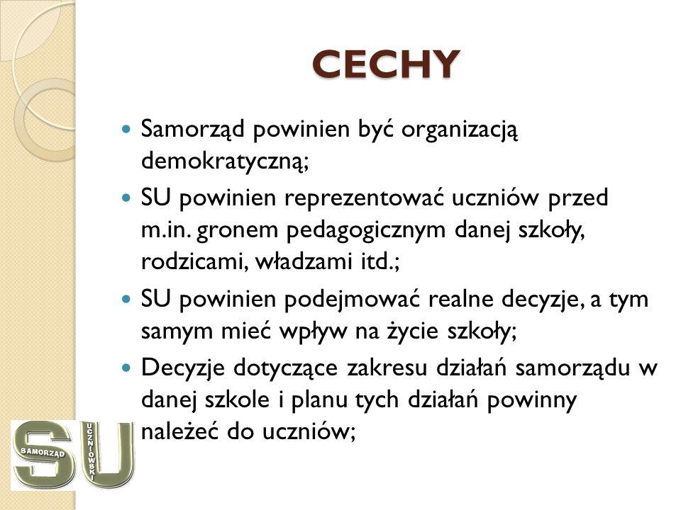 CECHY Samorząd powinien być organizacją demokratyczną;