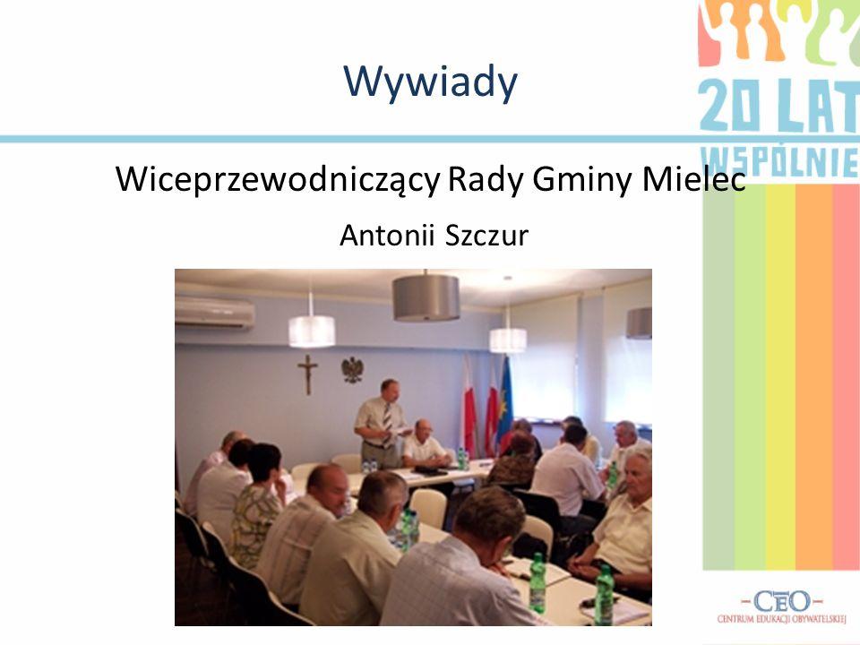 Wiceprzewodniczący Rady Gminy Mielec Antonii Szczur