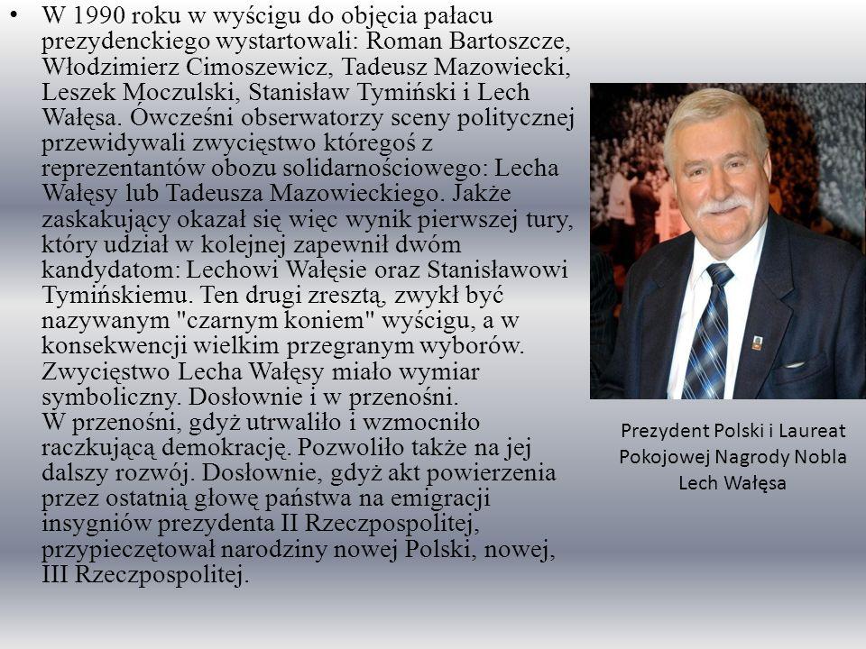 Prezydent Polski i Laureat Pokojowej Nagrody Nobla Lech Wałęsa