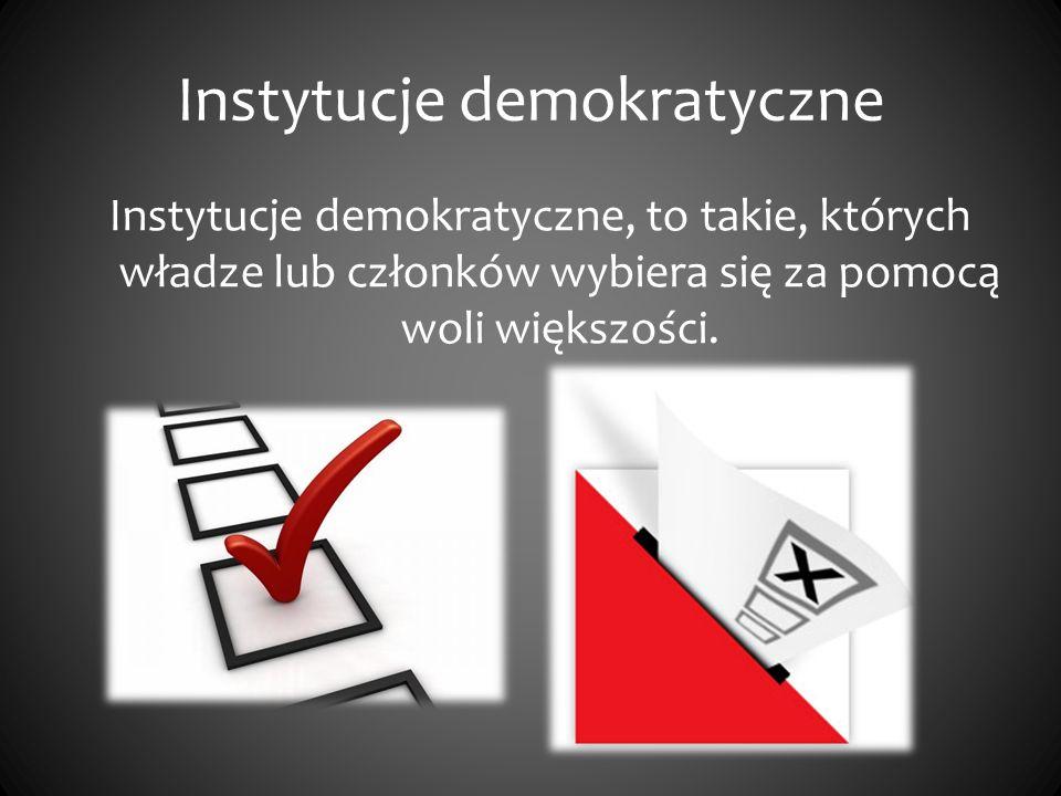 Instytucje demokratyczne