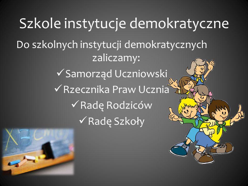 Szkole instytucje demokratyczne