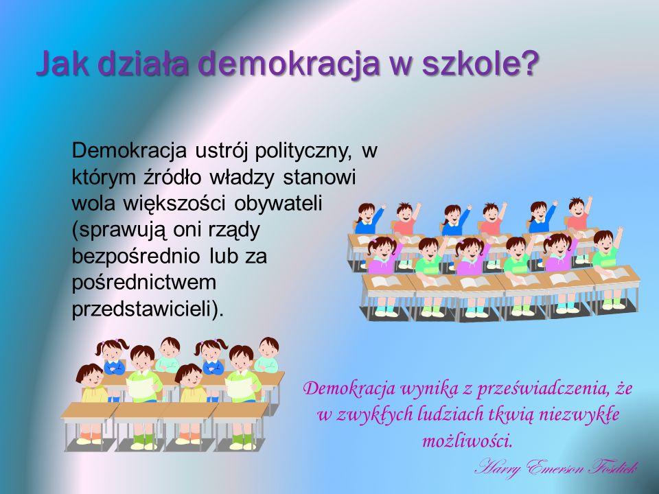 Jak działa demokracja w szkole