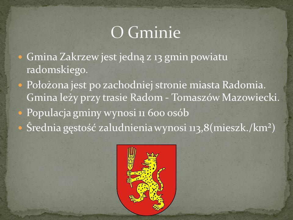 O Gminie Gmina Zakrzew jest jedną z 13 gmin powiatu radomskiego.