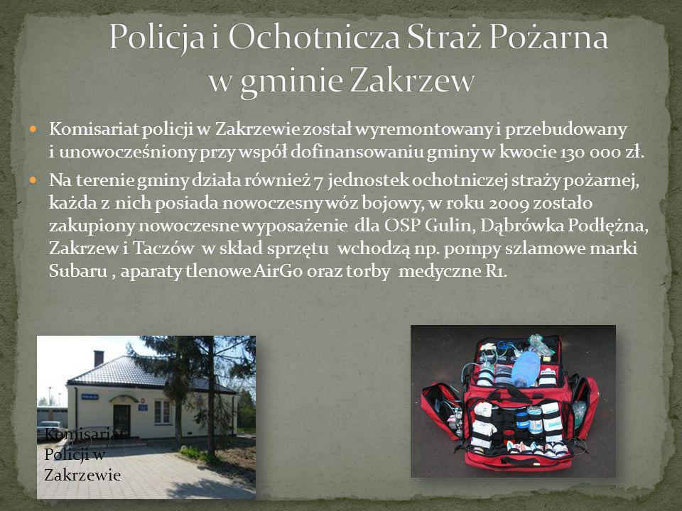 Policja i Ochotnicza Straż Pożarna w gminie Zakrzew