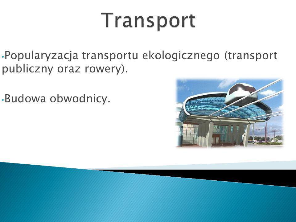 Transport Popularyzacja transportu ekologicznego (transport publiczny oraz rowery).