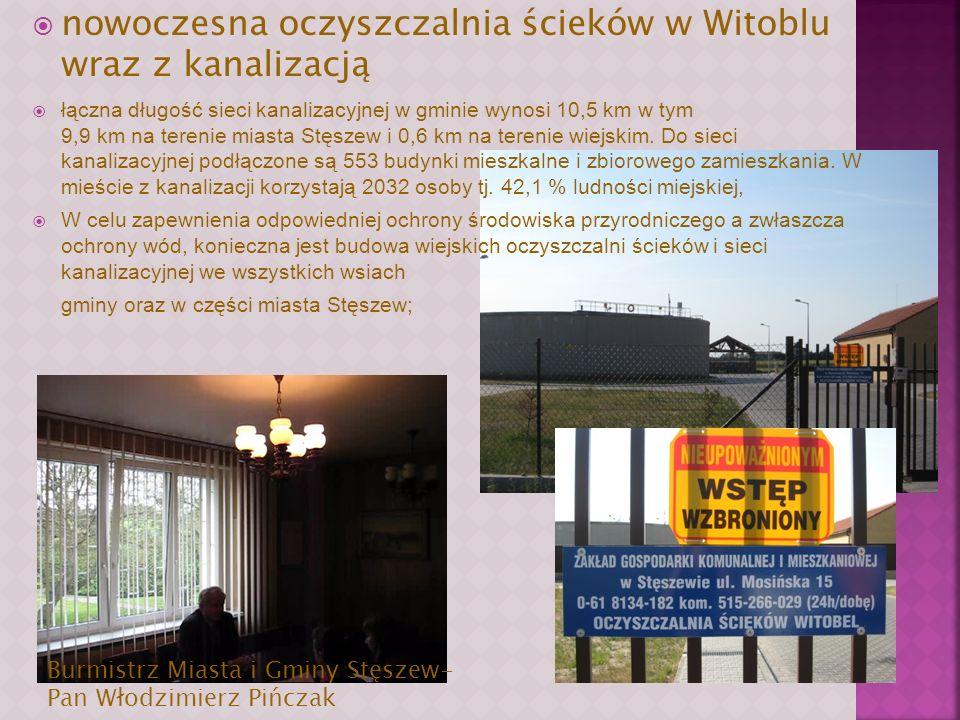 nowoczesna oczyszczalnia ścieków w Witoblu wraz z kanalizacją
