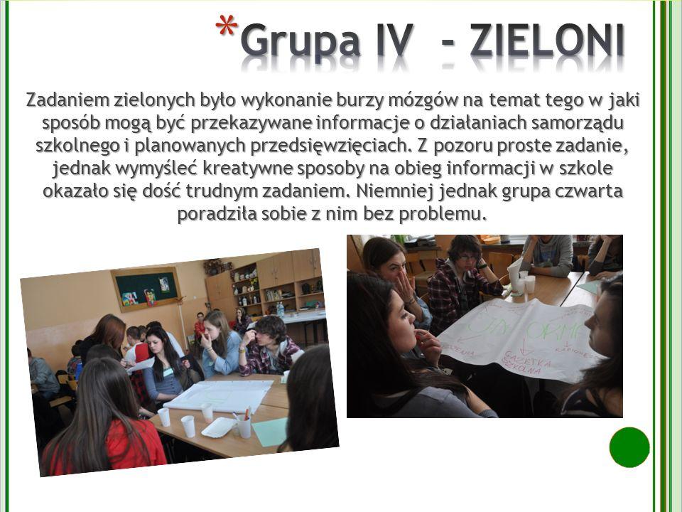 Grupa IV - ZIELONI