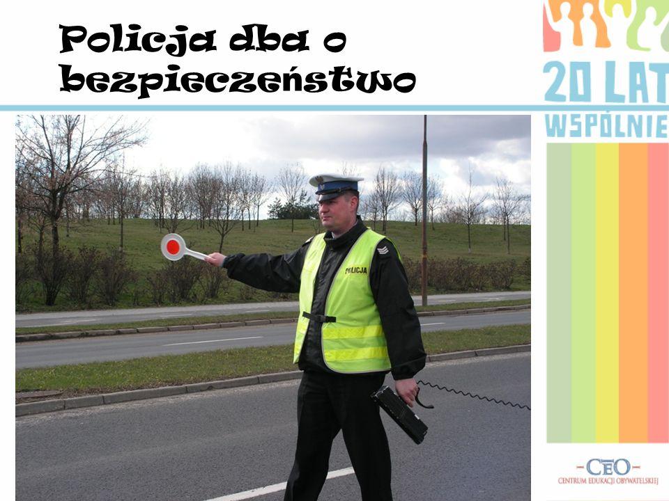 Policja dba o bezpieczeństwo
