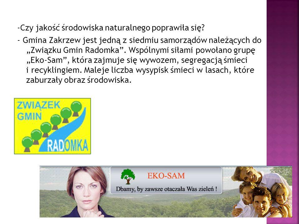 -Czy jakość środowiska naturalnego poprawiła się