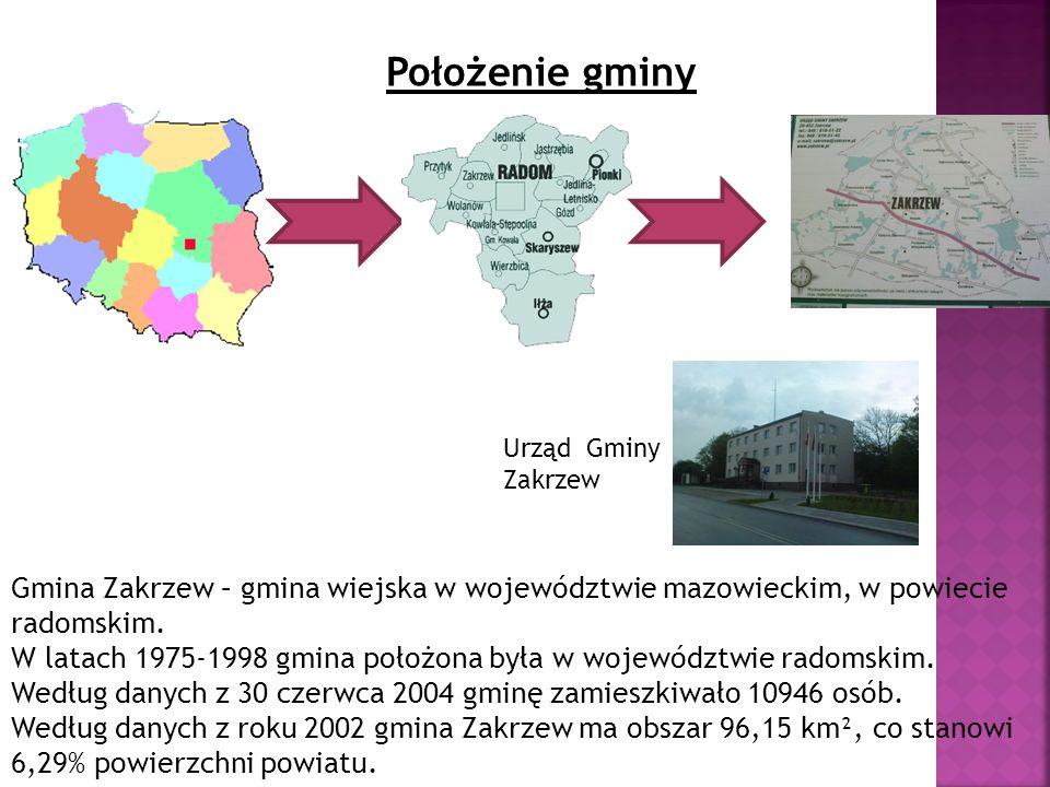 Położenie gminy Urząd Gminy Zakrzew. Gmina Zakrzew – gmina wiejska w województwie mazowieckim, w powiecie radomskim.