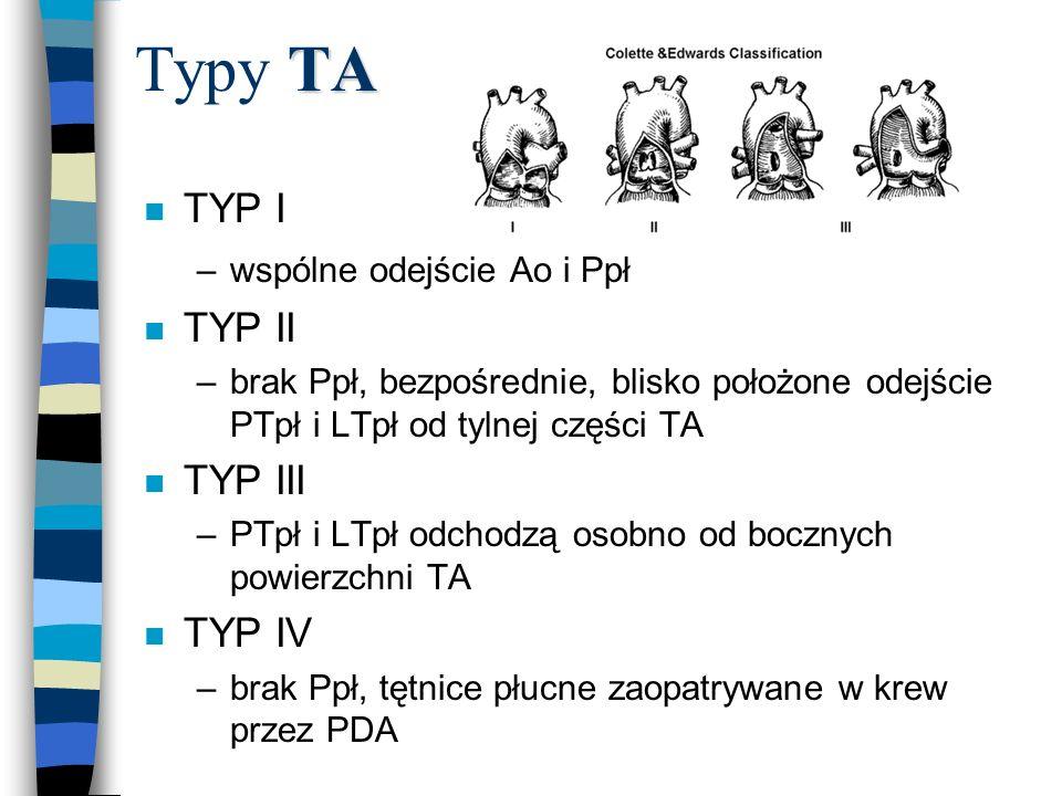 Typy TA TYP I TYP II TYP III TYP IV wspólne odejście Ao i Ppł