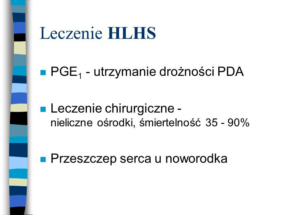 Leczenie HLHS PGE1 - utrzymanie drożności PDA