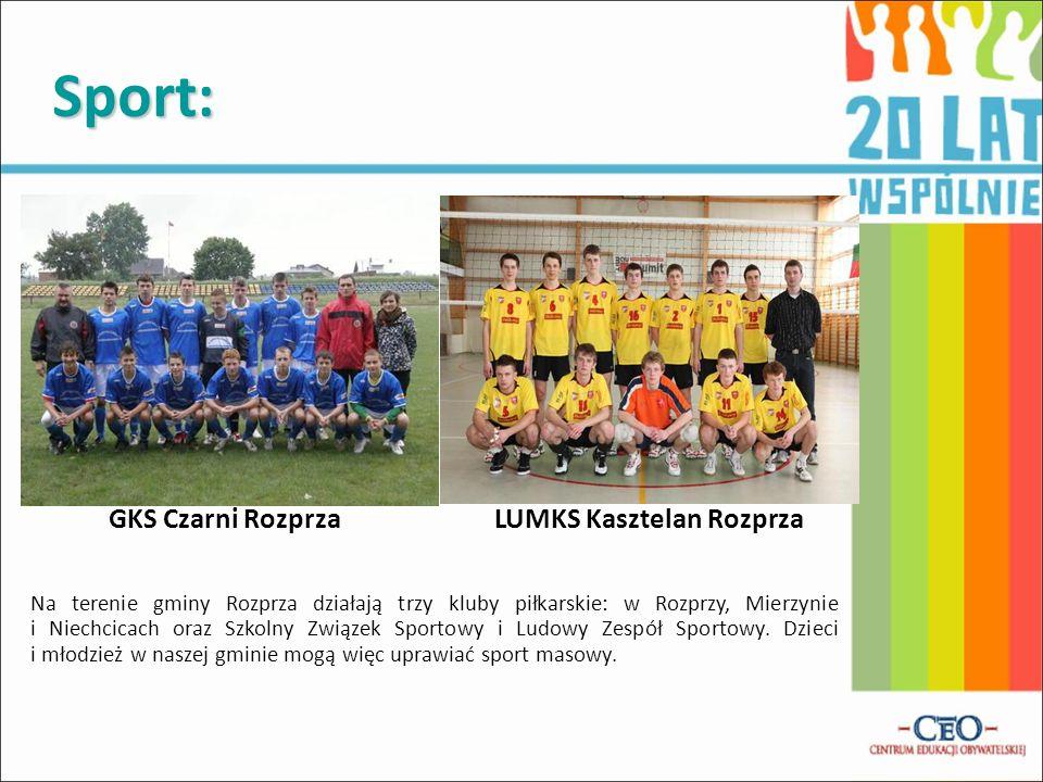 Sport: GKS Czarni Rozprza LUMKS Kasztelan Rozprza