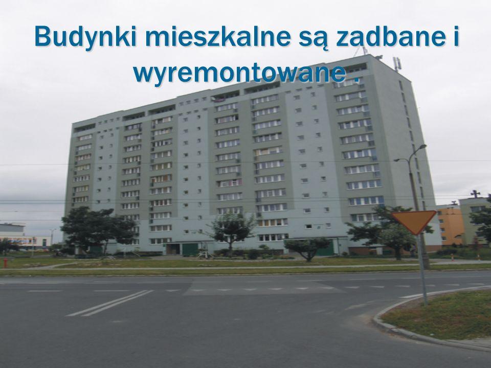Budynki mieszkalne są zadbane i wyremontowane .