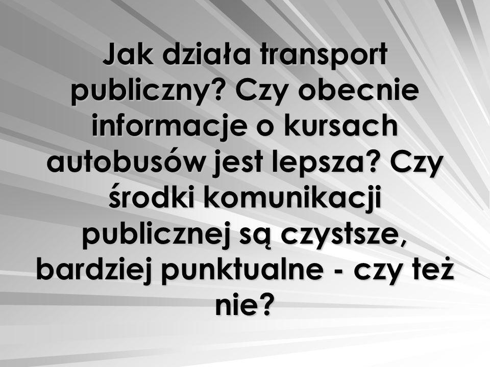 Jak działa transport publiczny