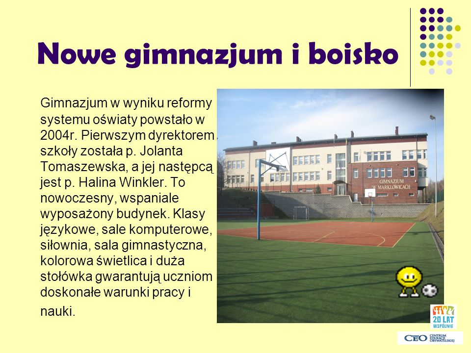Nowe gimnazjum i boisko