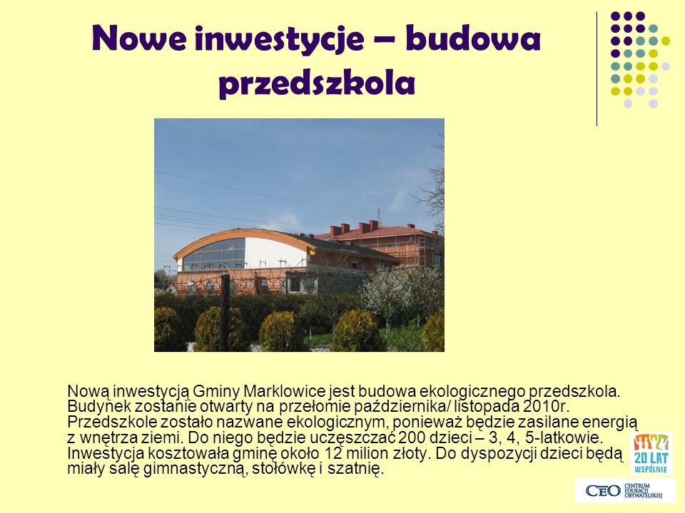 Nowe inwestycje – budowa przedszkola
