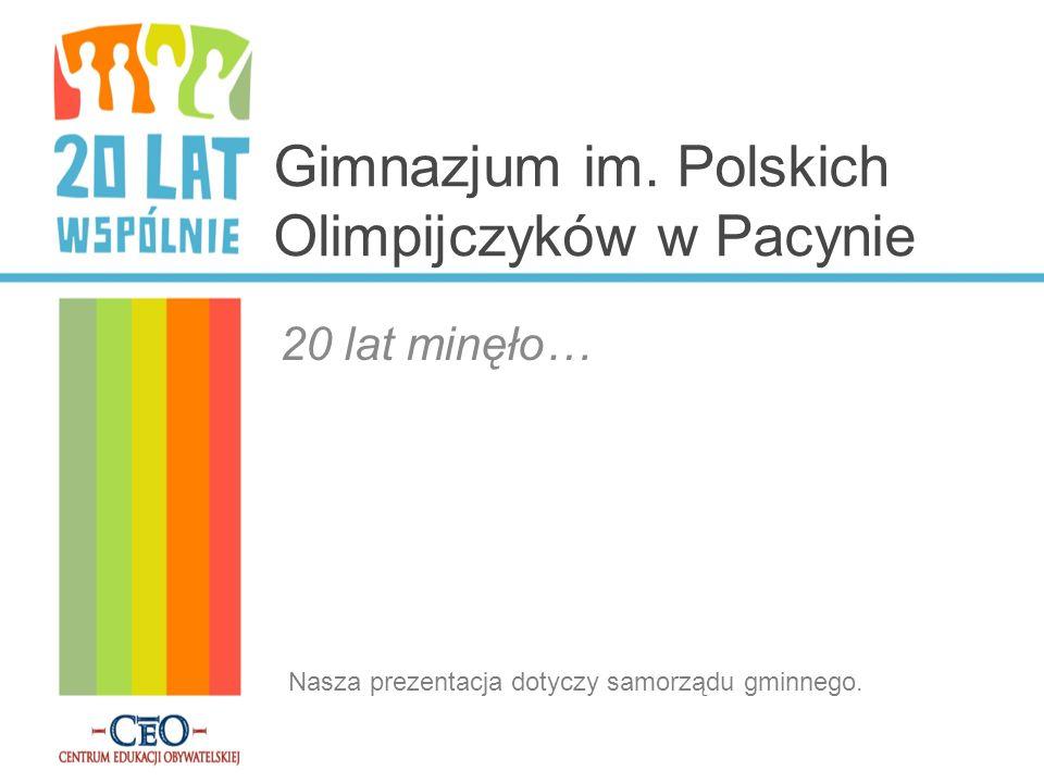 Gimnazjum im. Polskich Olimpijczyków w Pacynie