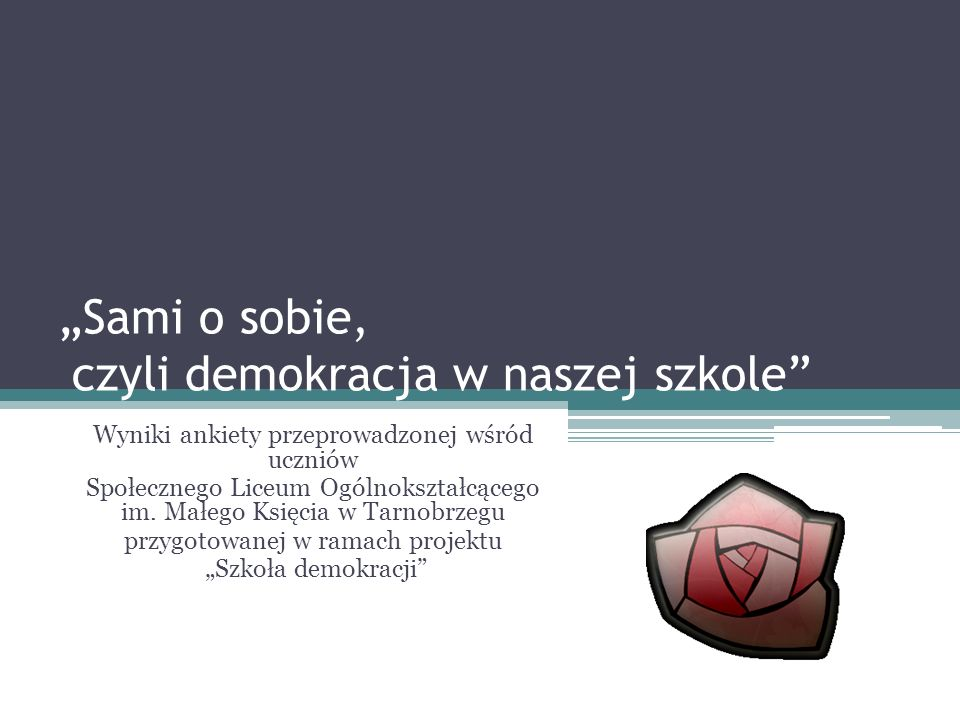 """""""Sami o sobie, czyli demokracja w naszej szkole"""