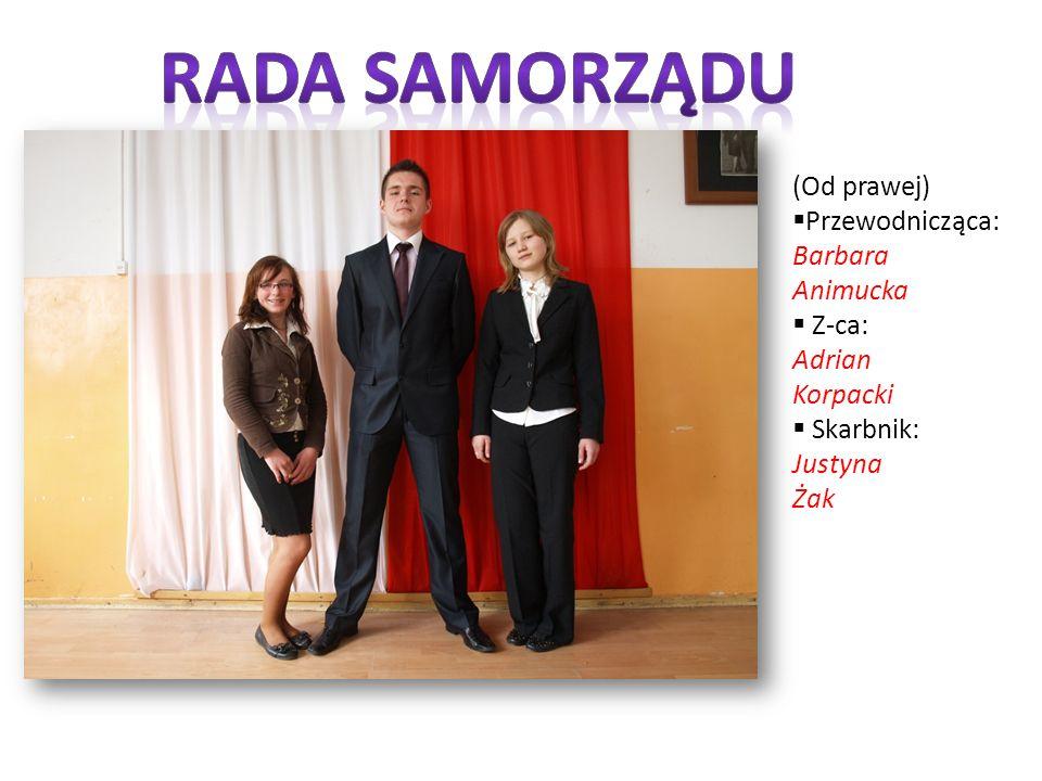 Rada samorządu (Od prawej) Przewodnicząca: Barbara Animucka Z-ca:
