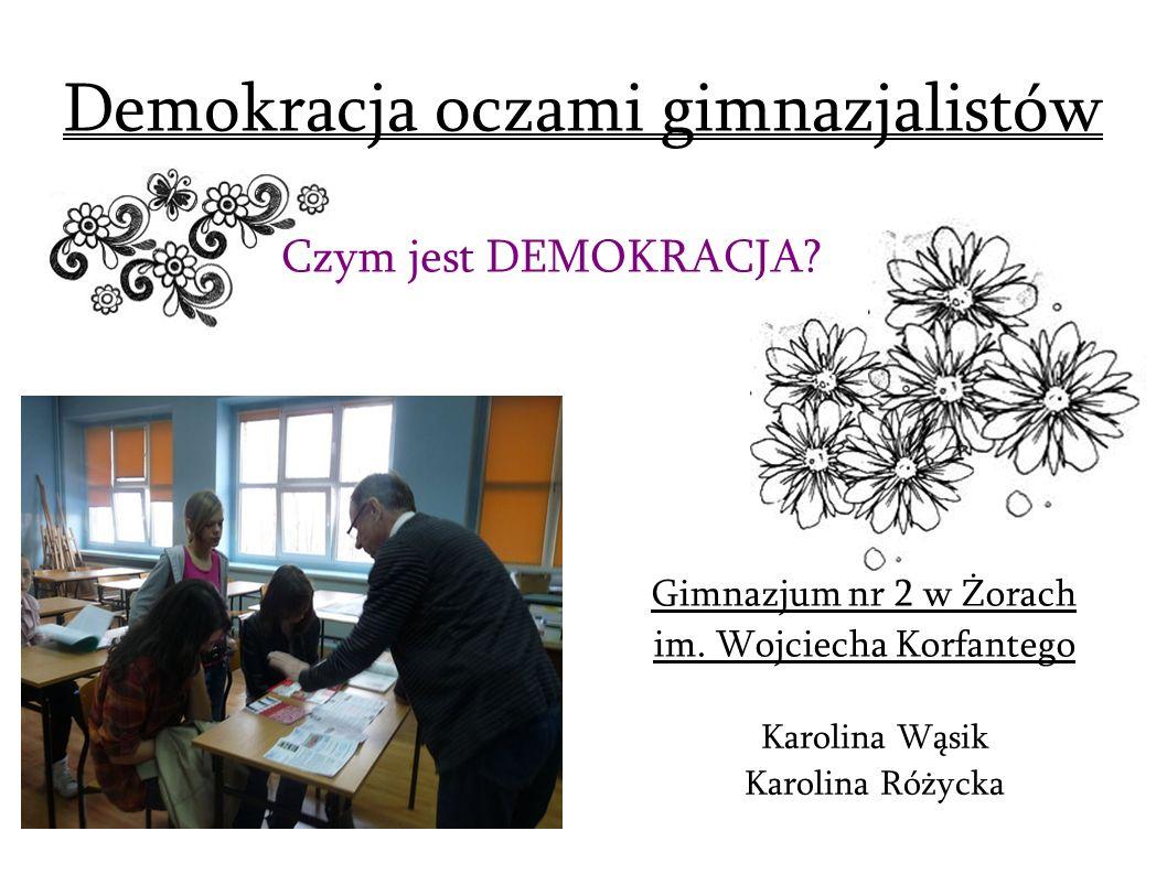 Demokracja oczami gimnazjalistów
