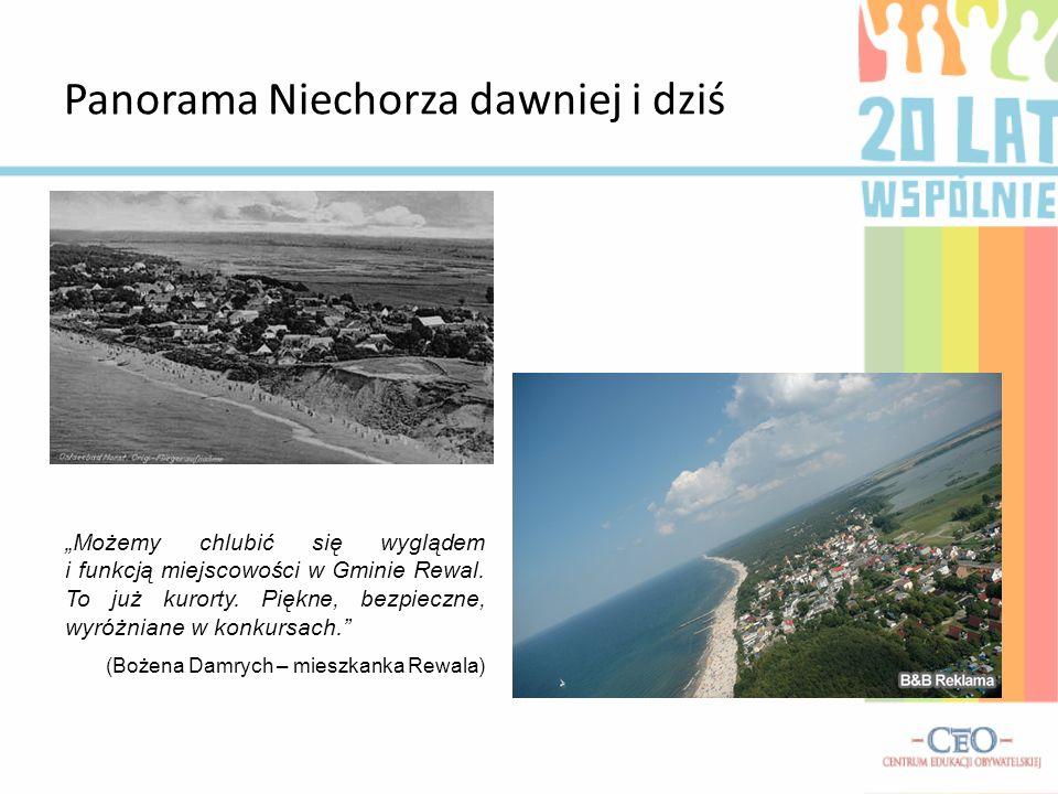 Panorama Niechorza dawniej i dziś