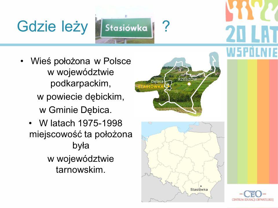 Gdzie leży Wieś położona w Polsce w województwie podkarpackim,