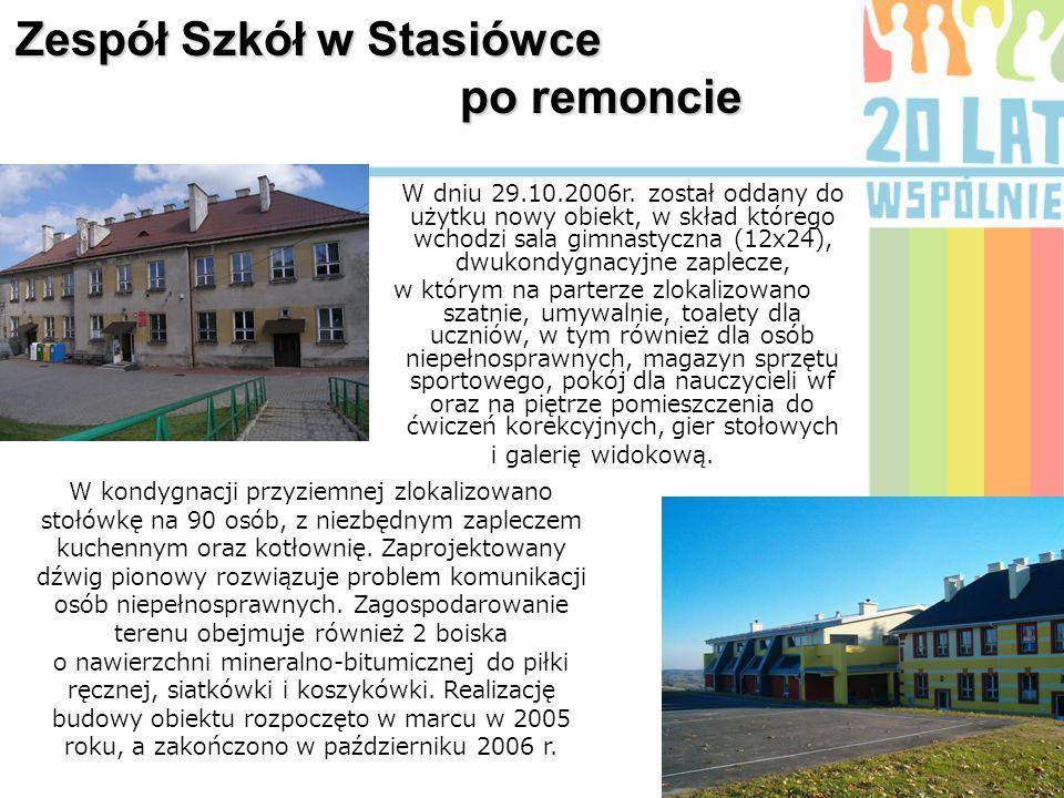 Zespół Szkół w Stasiówce po remoncie