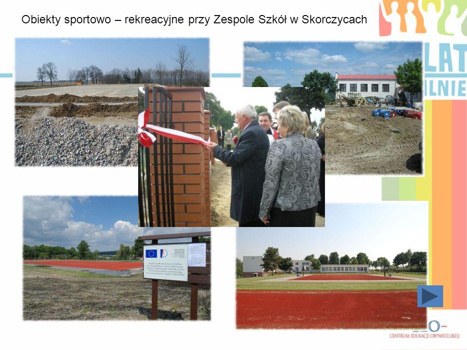 Obiekty sportowo – rekreacyjne przy Zespole Szkół w Skorczycach
