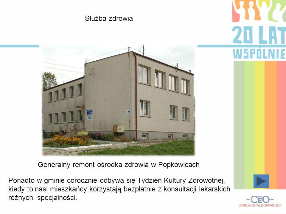 Służba zdrowia Generalny remont ośrodka zdrowia w Popkowicach.