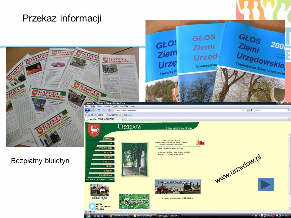 Przekaz informacji Bezpłatny biuletyn www.urzedow.pl