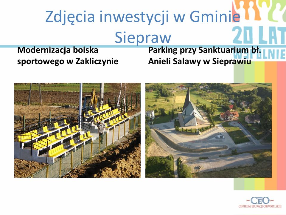 Zdjęcia inwestycji w Gminie Siepraw