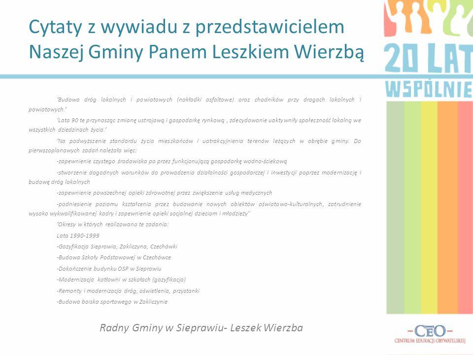 Radny Gminy w Sieprawiu- Leszek Wierzba