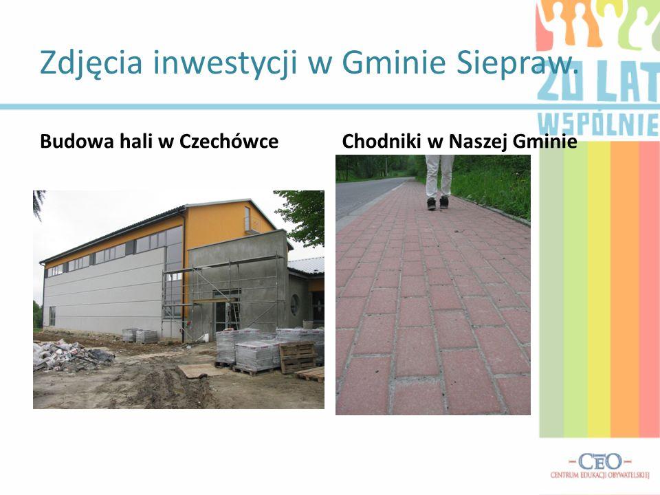 Zdjęcia inwestycji w Gminie Siepraw.