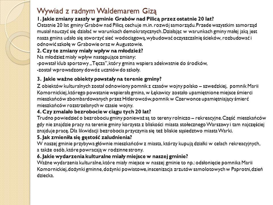 Wywiad z radnym Waldemarem Gizą 1