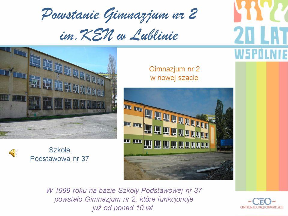 Powstanie Gimnazjum nr 2 im.KEN w Lublinie