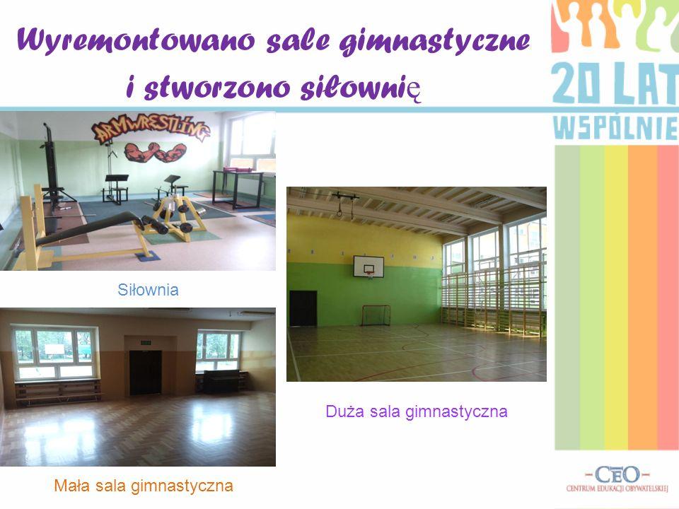 Wyremontowano sale gimnastyczne i stworzono siłownię