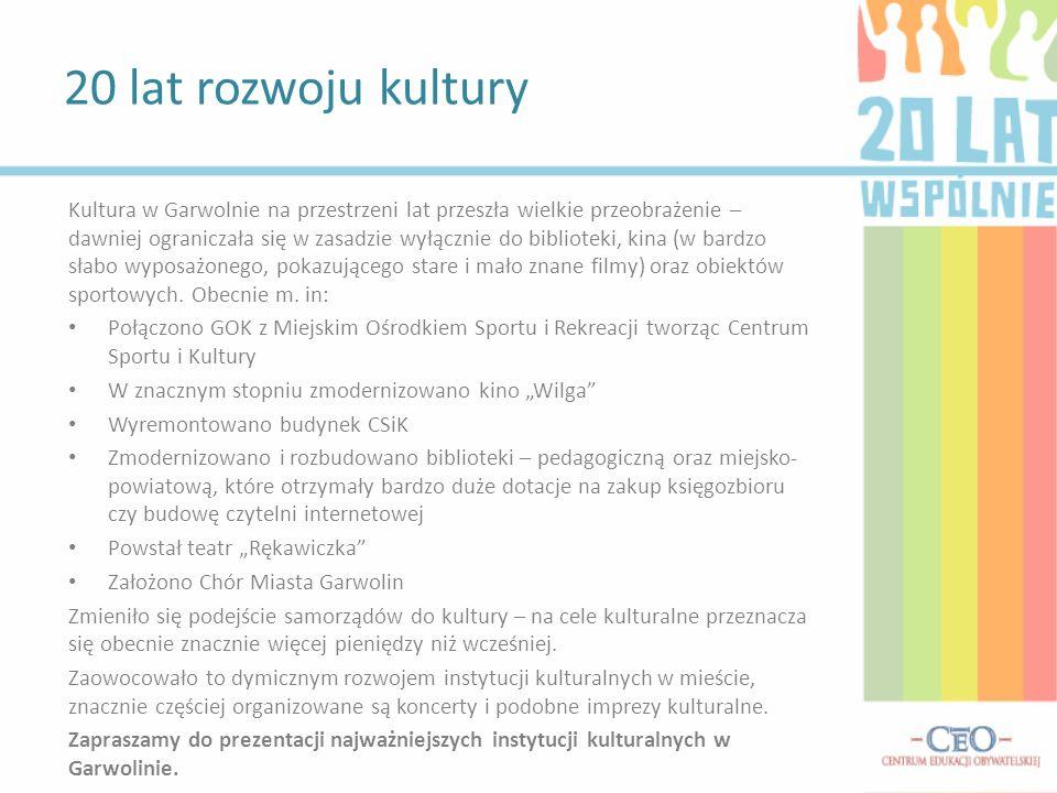 20 lat rozwoju kultury