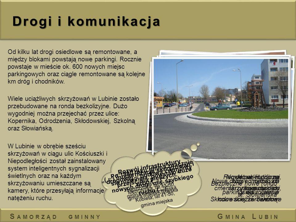 Drogi i komunikacja Samorząd gminny Gmina Lubin