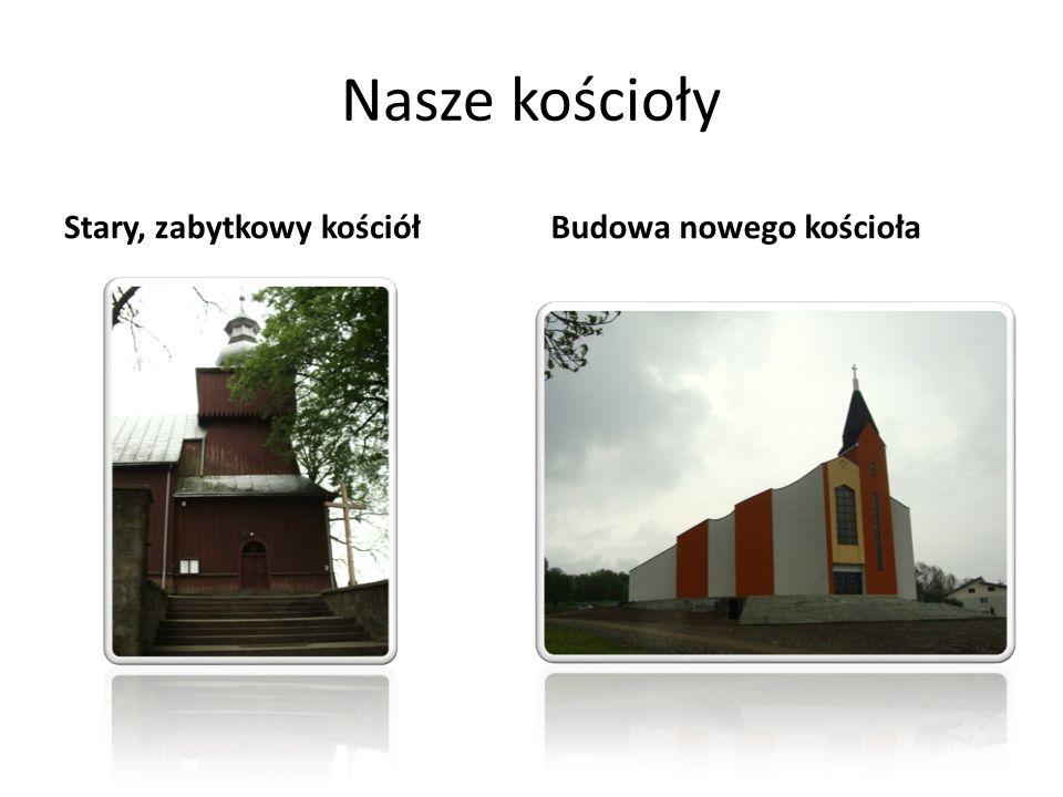 Nasze kościoły Stary, zabytkowy kościół Budowa nowego kościoła