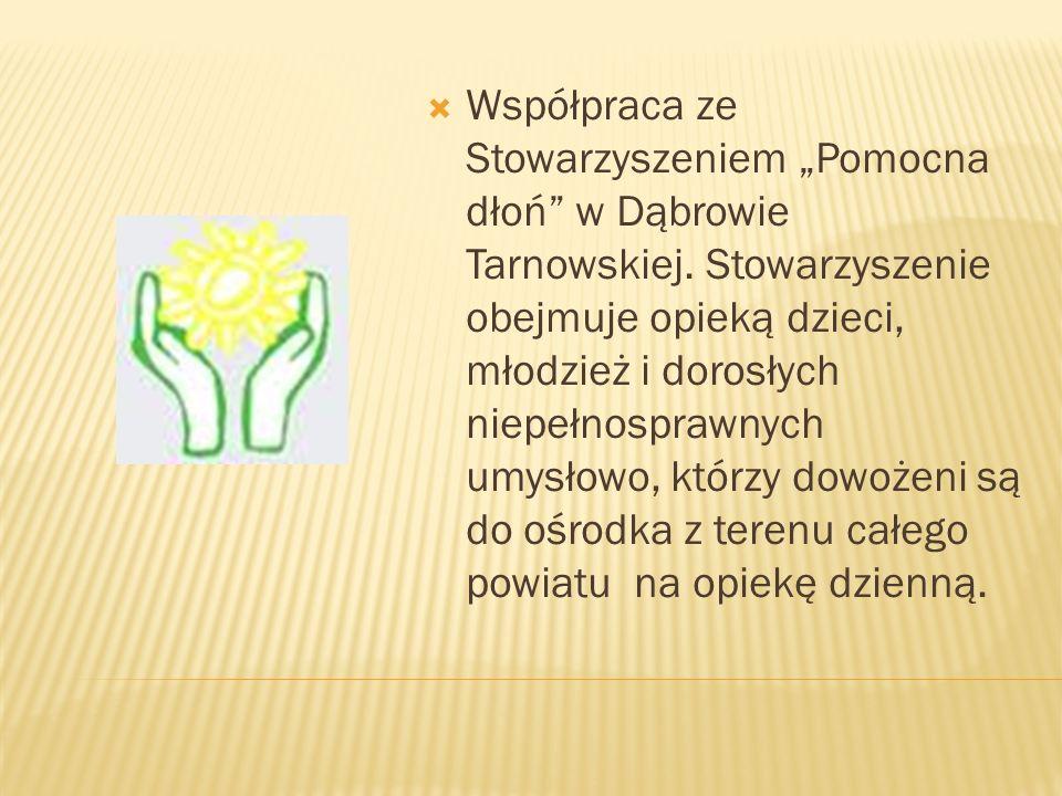"""Współpraca ze Stowarzyszeniem """"Pomocna dłoń w Dąbrowie Tarnowskiej"""