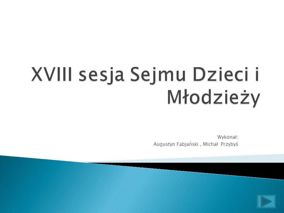 XVIII sesja Sejmu Dzieci i Młodzieży