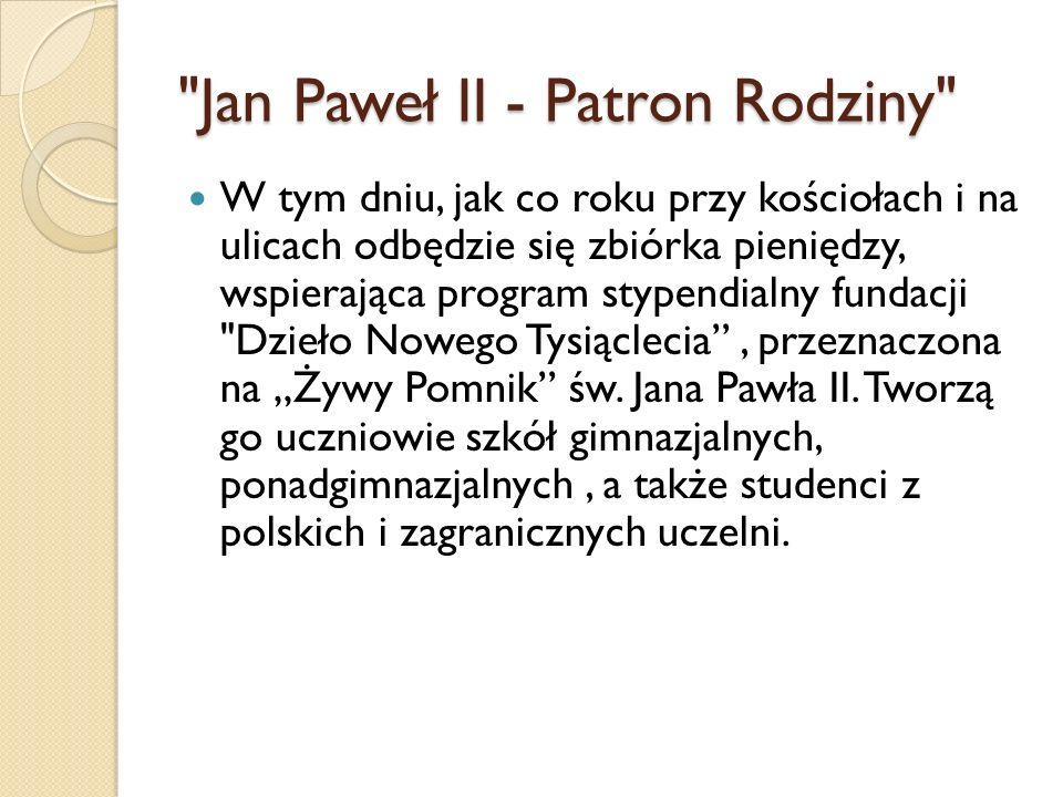 Jan Paweł II - Patron Rodziny