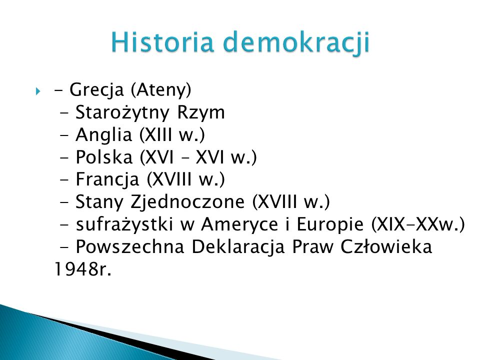 Historia demokracji - Starożytny Rzym - Anglia (XIII w.)